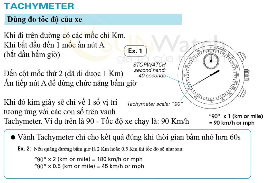 Chức năng đo vận tốc của đồng hồ Seiko